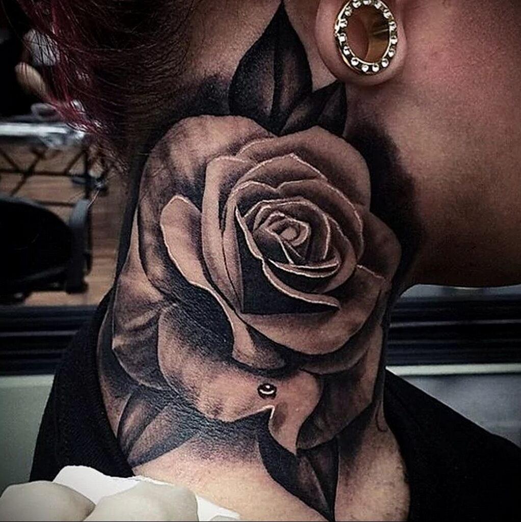 Фото тату роза для девушки 25.01.2021 №0045 - rose tattoo for girls - tatufoto.com