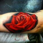 Фото тату роза на руке 25.01.2021 №0081 - rose tattoo on hand - tatufoto.com