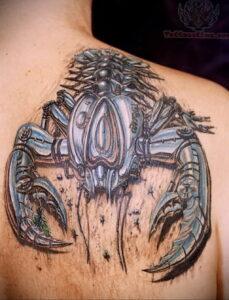 Фото тату скорпион на спине 16.01.2021 №0033 -scorpion back tattoo- tatufoto.com