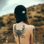 Фото тату скорпион на спине 16.01.2021 №0042 -scorpion back tattoo- tatufoto.com