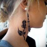 Фото тату с черной розой 25.01.2021 №0035 - black rose tattoo - tatufoto.com