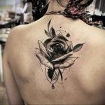 Фото тату с черной розой 25.01.2021 №0076 - black rose tattoo - tatufoto.com