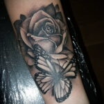 Фото тату с черной розой 25.01.2021 №0080 - black rose tattoo - tatufoto.com