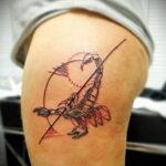 Фото тату цветной скорпион 16.01.2021 №0028 -color tattoo scorpion- tatufoto.com