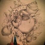 Фото тату чайник 06.01.2021 №008 -tattoo teapot- tatufoto.com