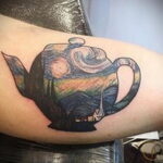 Фото тату чайник 06.01.2021 №009 -tattoo teapot- tatufoto.com