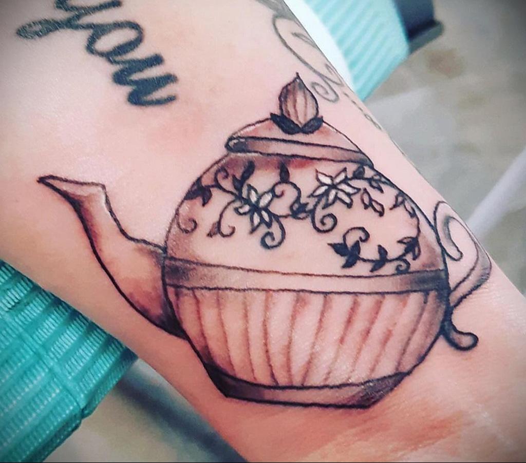 Фото тату чайник 06.01.2021 №387 -tattoo teapot- tatufoto.com