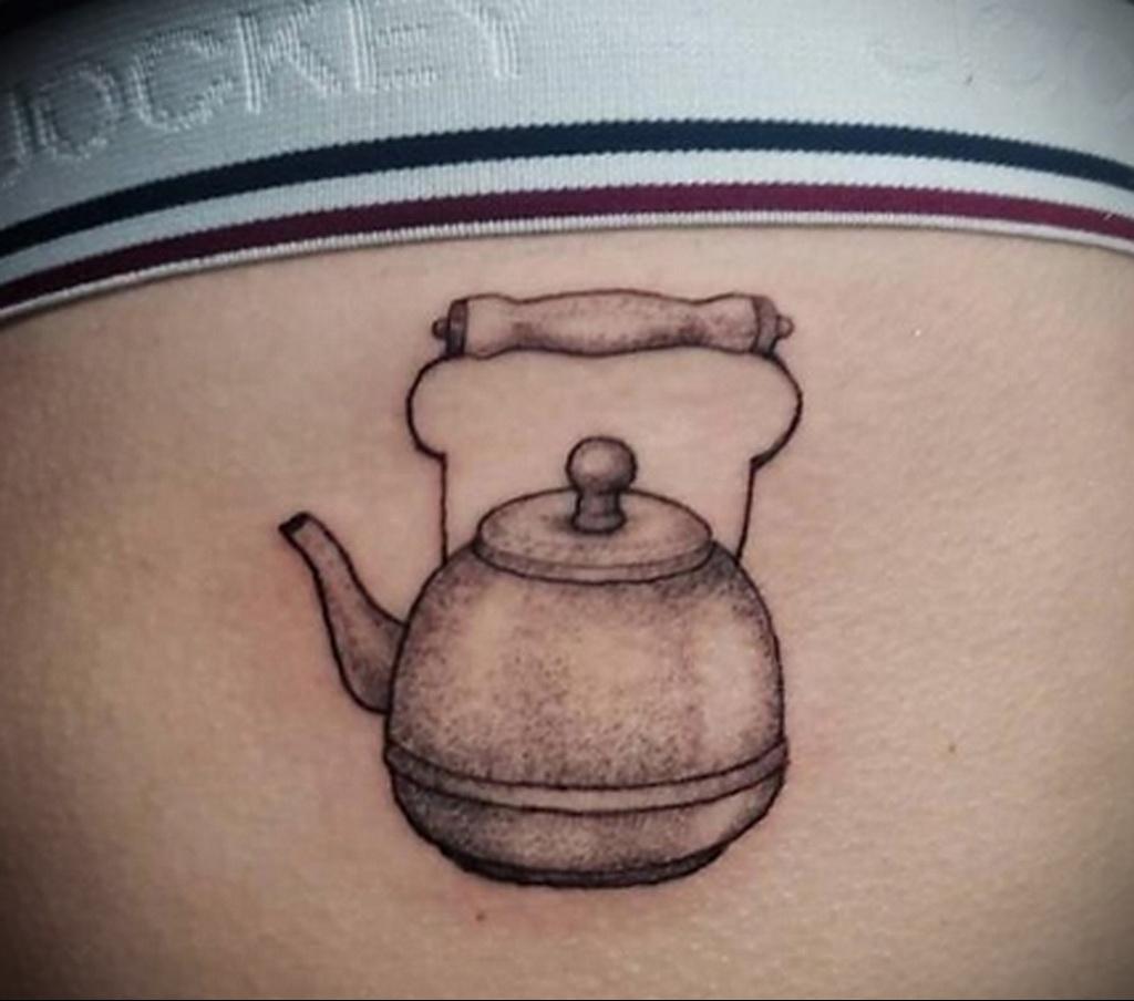 Фото тату чайник 06.01.2021 №392 -tattoo teapot- tatufoto.com