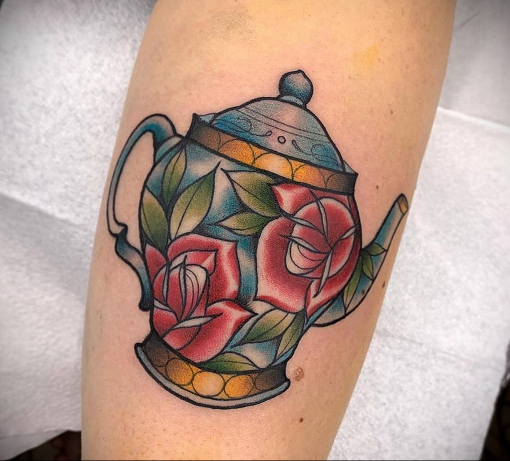 Фото тату чайник 06.01.2021 №394 -tattoo teapot- tatufoto.com