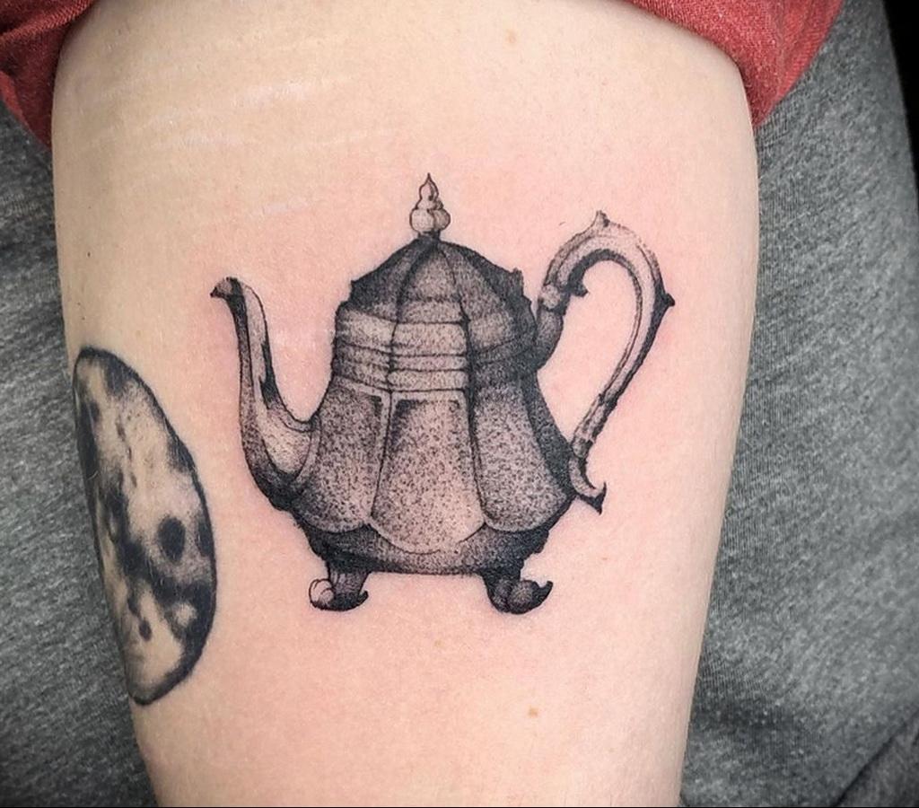 Фото тату чайник 06.01.2021 №396 -tattoo teapot- tatufoto.com