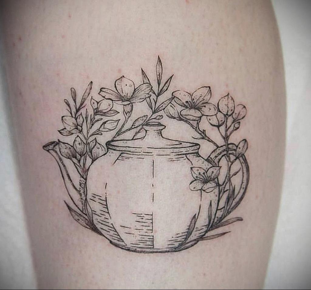 Фото тату чайник 06.01.2021 №406 -tattoo teapot- tatufoto.com