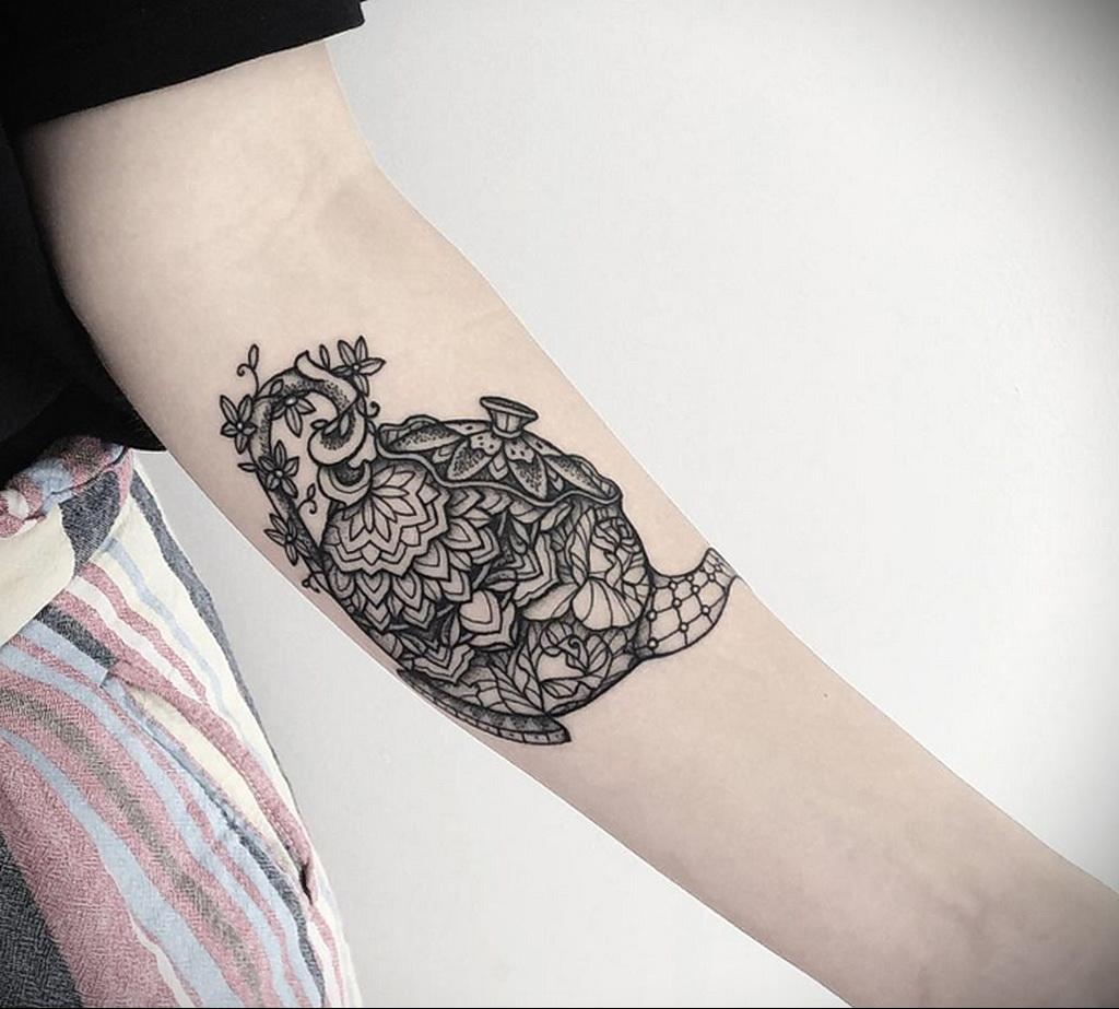 Фото тату чайник 06.01.2021 №409 -tattoo teapot- tatufoto.com