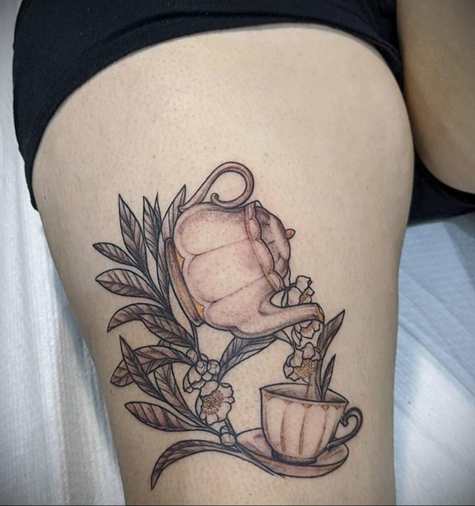 Фото тату чайник 06.01.2021 №414 -tattoo teapot- tatufoto.com