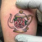 Фото тату чайник 06.01.2021 №428 -tattoo teapot- tatufoto.com