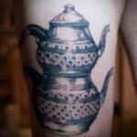 Фото тату чайник 06.01.2021 №430 -tattoo teapot- tatufoto.com