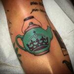 Фото тату чайник 06.01.2021 №437 -tattoo teapot- tatufoto.com