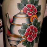 Фото тату чайник 06.01.2021 №438 -tattoo teapot- tatufoto.com