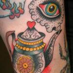 Фото тату чайник 06.01.2021 №441 -tattoo teapot- tatufoto.com