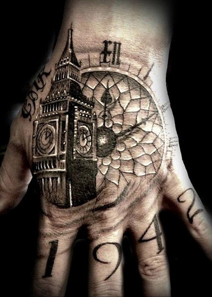 Фото тату часы для мужчины 19.01.2021 №0017 -tattoo clock for men-tatufoto.com
