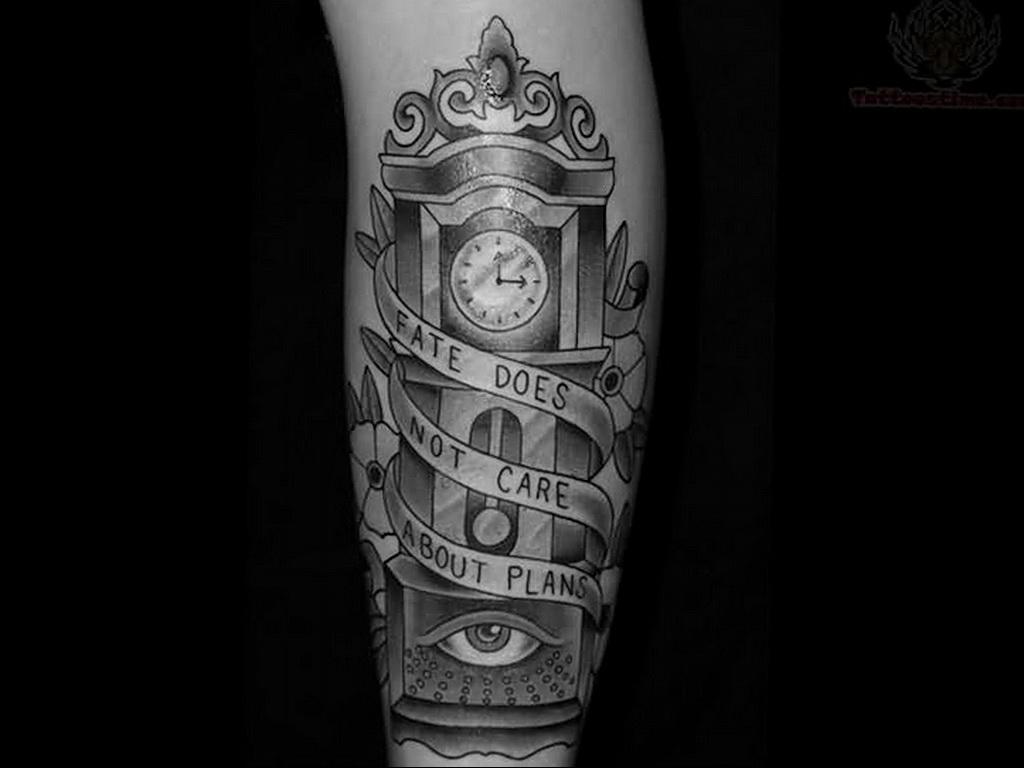 Фото тату часы на предплечье 19.01.2021 №0021 -forearm clock tattoo-tatufoto.com