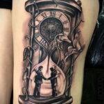 Фото тату часы песочные 19.01.2021 №0014 -hourglass tattoo-tatufoto.com