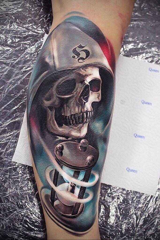 Фото тату часы песочные 19.01.2021 №0220 -hourglass tattoo-tatufoto.com
