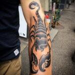 Фото тату черный скорпион 16.01.2021 №0034 -black scorpion tattoo- tatufoto.com