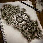 Фото эскиза для тату часы 19.01.2021 №0087 - tattoo clock sketches - tatufoto.com
