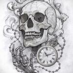 Фото эскиза для тату часы 19.01.2021 №0090 - tattoo clock sketches - tatufoto.com