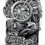 Фото эскиза для тату часы 19.01.2021 №0096 - tattoo clock sketches - tatufoto.com