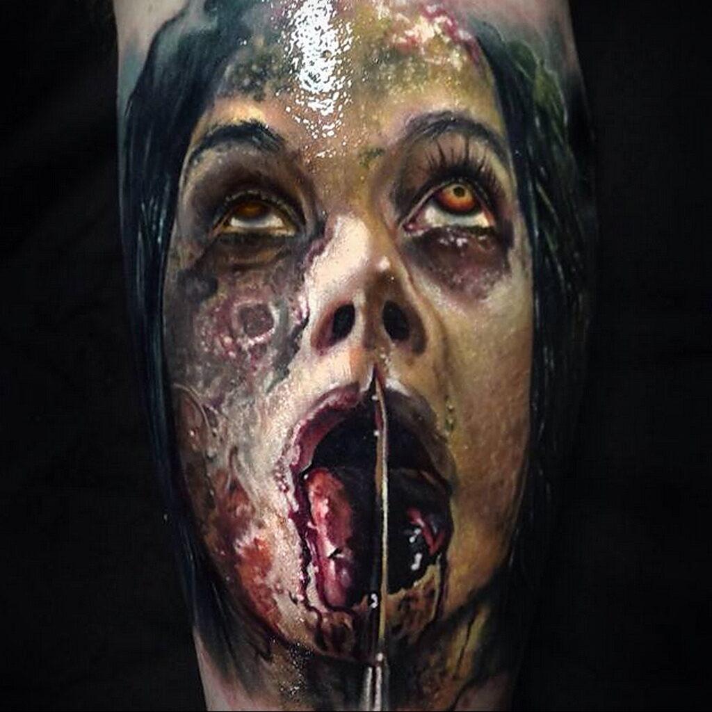 Цветная тату в стиле реализм 02.01.2021 №075 -color realism tattoo- tatufoto.com