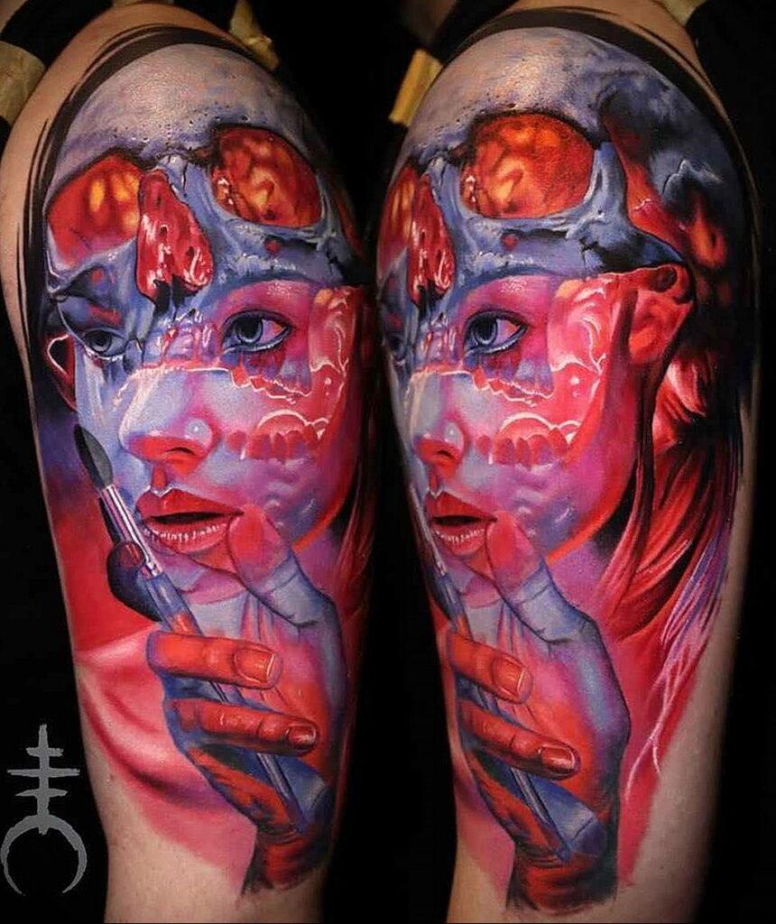 Цветная тату в стиле реализм 02.01.2021 №107 -color realism tattoo- tatufoto.com
