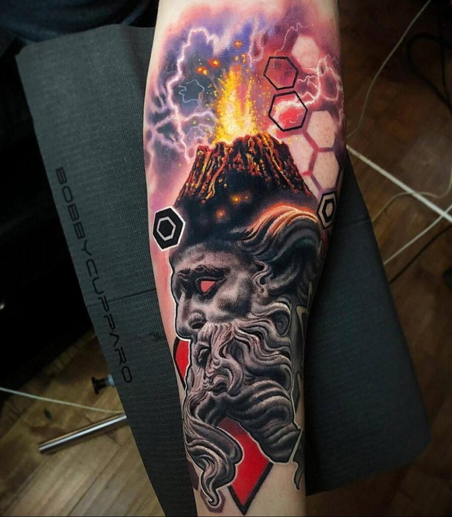 Цветная тату в стиле реализм 02.01.2021 №114 -color realism tattoo- tatufoto.com