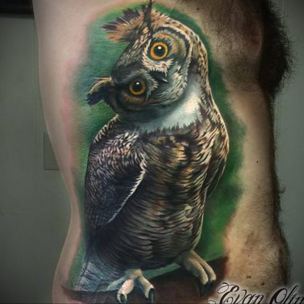Цветная тату в стиле реализм 02.01.2021 №123 -color realism tattoo- tatufoto.com