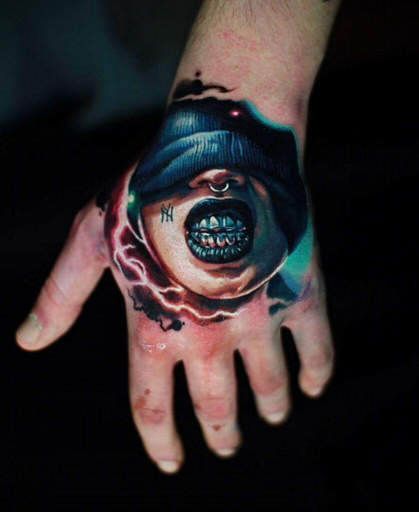 Цветная тату в стиле реализм 02.01.2021 №124 -color realism tattoo- tatufoto.com