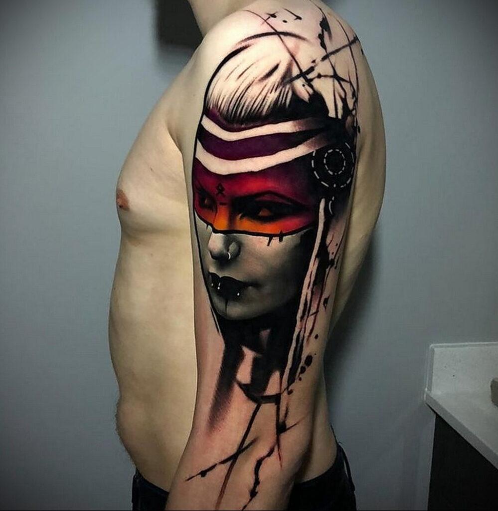 Цветная тату в стиле реализм 02.01.2021 №150 -color realism tattoo- tatufoto.com