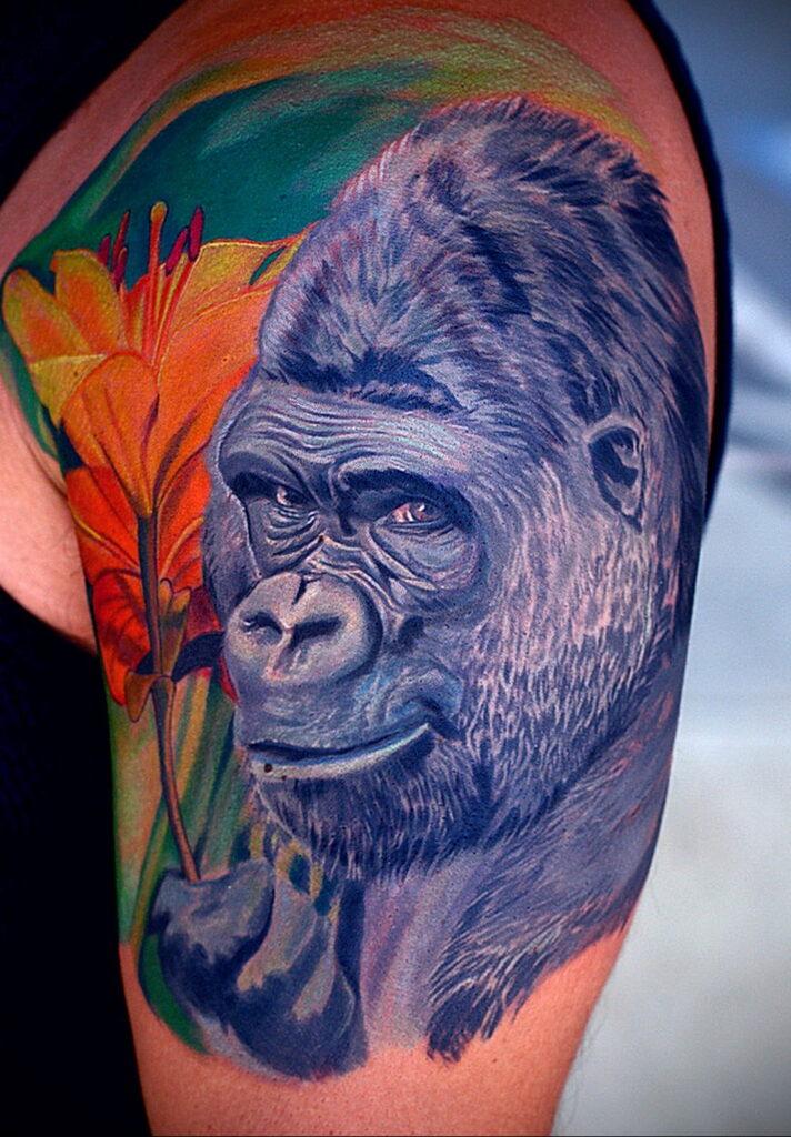 Цветная тату в стиле реализм 02.01.2021 №163 -color realism tattoo- tatufoto.com