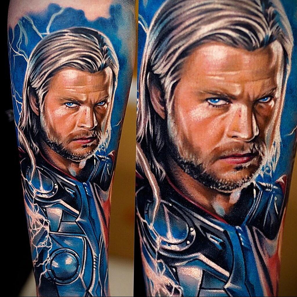 Цветная тату в стиле реализм 02.01.2021 №175 -color realism tattoo- tatufoto.com
