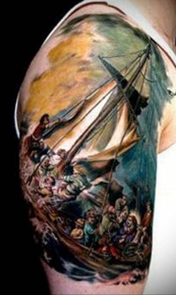 Цветная тату в стиле реализм 02.01.2021 №198 -color realism tattoo- tatufoto.com