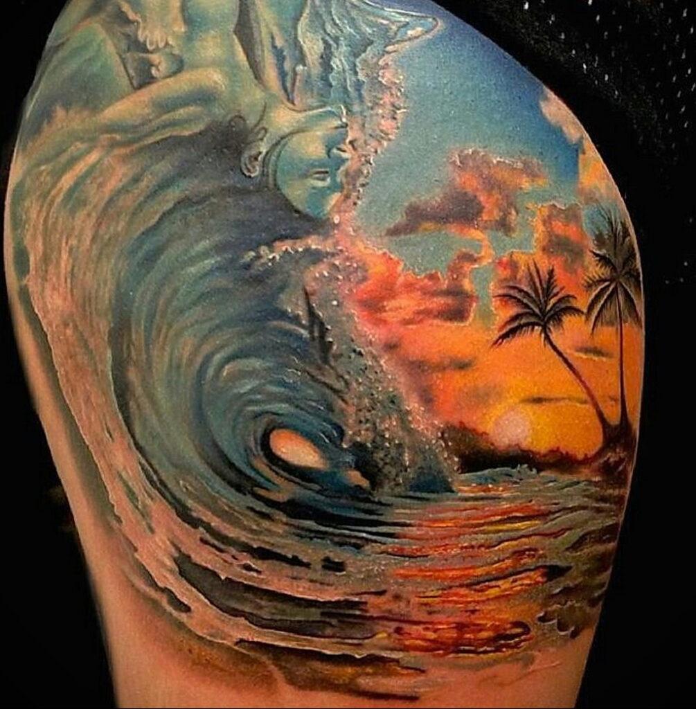 Цветная тату в стиле реализм 02.01.2021 №199 -color realism tattoo- tatufoto.com