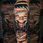 Цветная тату в стиле реализм 02.01.2021 №215 -color realism tattoo- tatufoto.com