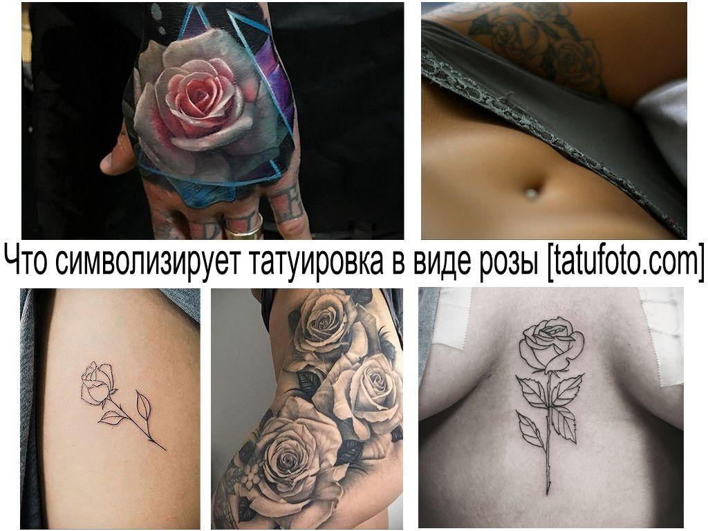 Что символизирует татуировка в виде розы - информация и фото рисунков тату