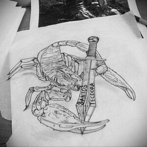 Эскиз для татуировки скорпион 16.01.2021 №0009 -scorpion tattoo sketch- tatufoto.com