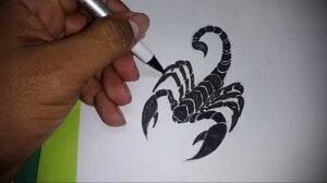 Эскиз для татуировки скорпион 16.01.2021 №0031 -scorpion tattoo sketch- tatufoto.com