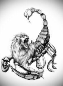 Эскиз для татуировки скорпион 16.01.2021 №0042 -scorpion tattoo sketch- tatufoto.com