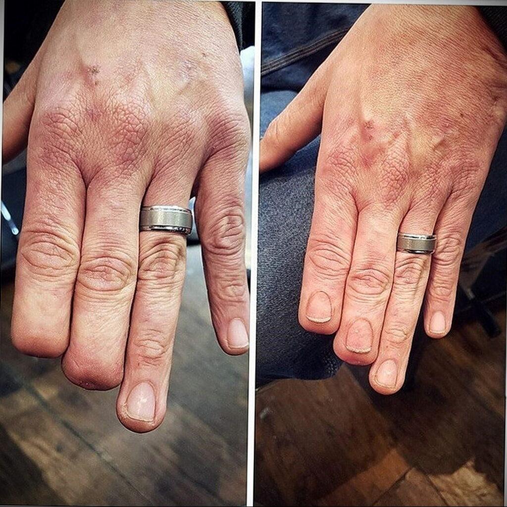 тату пальцев руки - фото - 25012021
