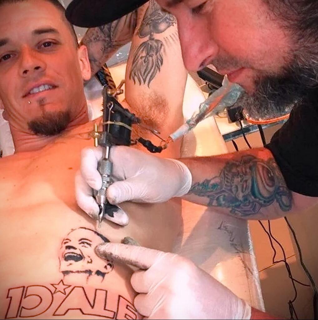 Андрес Д'Алессандро тату - 10022021 фото тату 2