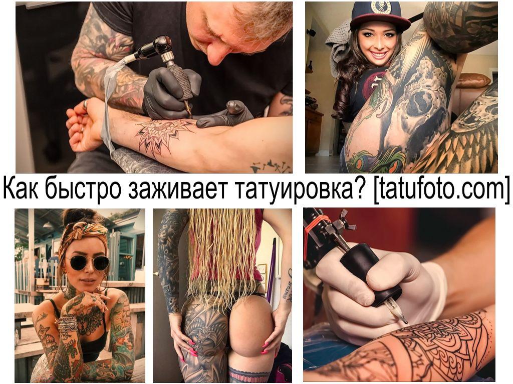 Как быстро заживает татуировка - информация про особенности и фото примеры