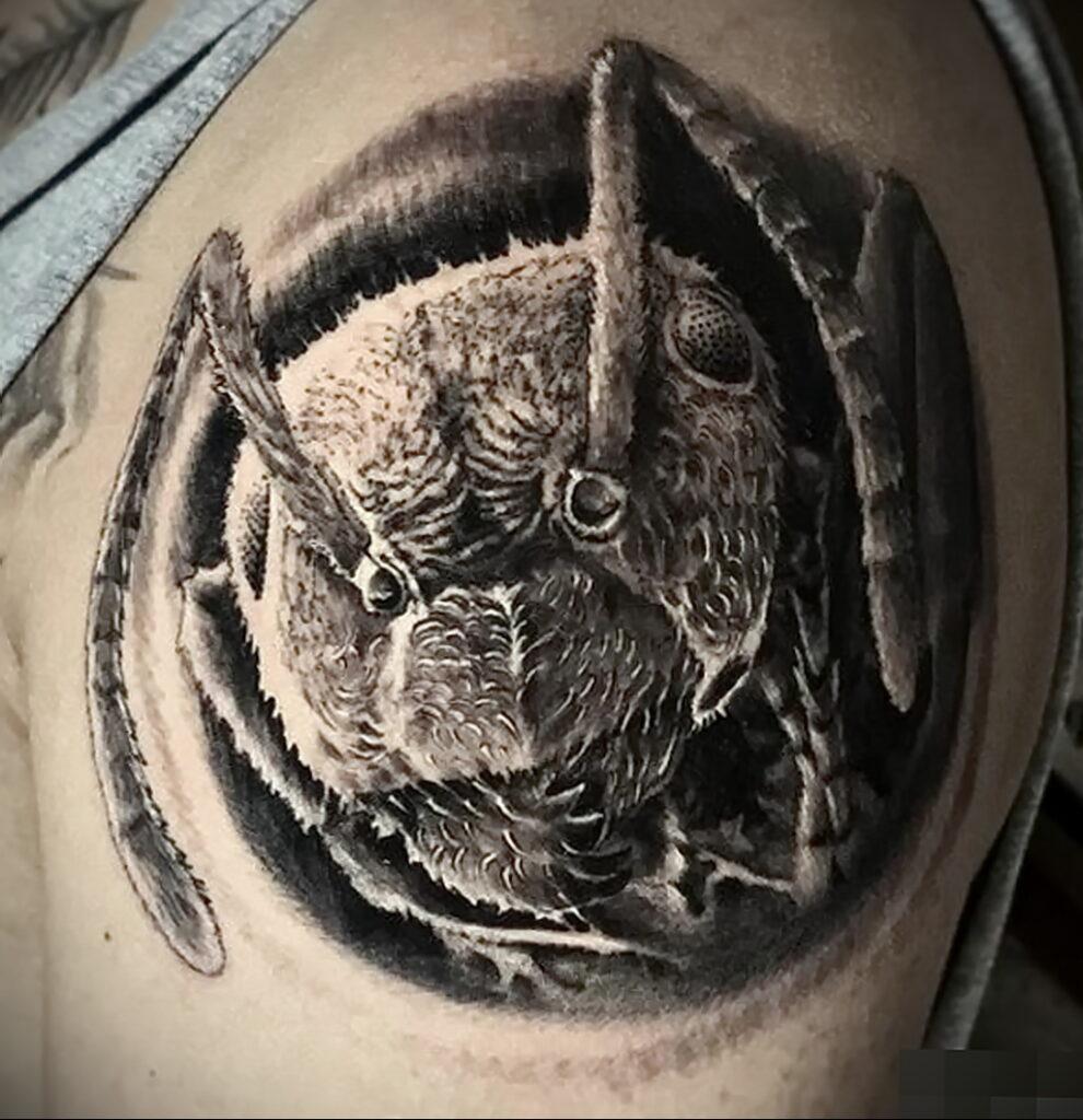 Фото пример рисунка татуировки с муравьем 21.03.2021 №084 - ant tattoo - tatufoto.com