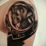 Фото пример рисунка татуировки с муравьем 21.03.2021 №105 - ant tattoo - tatufoto.com